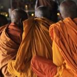 Moines bouddhistes ˆ Lumbini,NŽpal