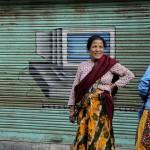 Femme nŽpalaise dans une rue ˆ Katmandou/nepalese woman in a str