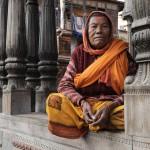 Femme Sadou ˆ Pashupatinath Katmandou/sadu woman in Pashupatinat